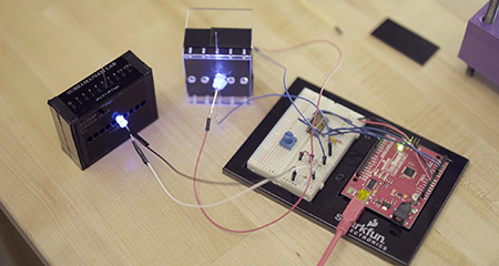 A prototype of the diagnostic machine