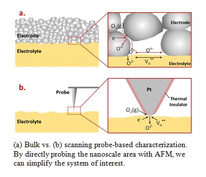 Bulk versus scanning probe